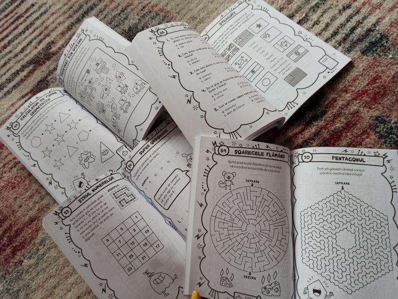 micile genii, carti cu activitati pentru copii